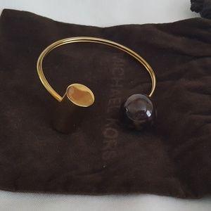 Michael Kors Tortoise open Barrel Cuff Bracelet